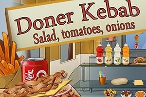 Doner Kebab: Salad, Tomatoes, Onions