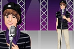 Justin Bieber in Concert Dress Up Game